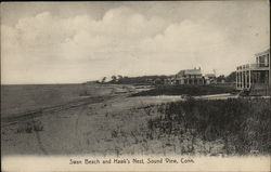 Swan Beach and Hawk's Nest Postcard