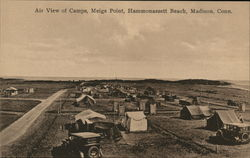 Air View of Camps, Meigs Point, Hammonassett Beach