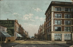 Hohman St. North From Near Court House Postcard