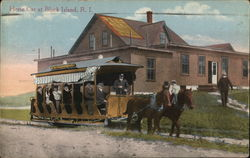 Horse Car at Block Island, R.I.