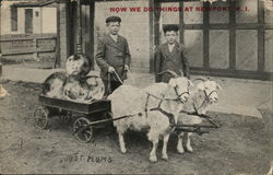 How We Do Things at Newport - Boys with Goat Cart