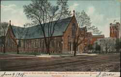 View of Main Street East, Showin Corpus Christi Church and New Armory