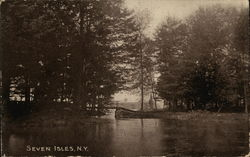 A Pond and a Foot Bridge in the Trees, Seven Isles