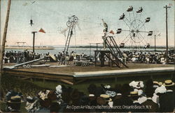 An Open Air Vaudeville Performance Postcard