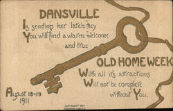 Dansville Old Home Week Postcard
