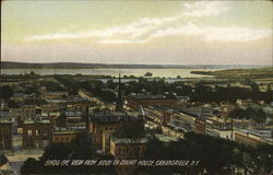 Birds-Eye View From Roof of Court House Postcard