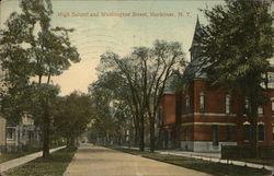 High School and Washington Street