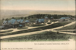 Part of grounds of Loomis Sanatorium Postcard