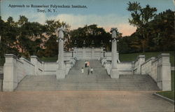 Approach to Rensselner Polytechnic Institute Postcard
