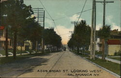 A 509 Braod St. Looking West Postcard