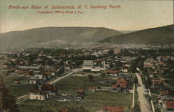 Birds-eye View, Looking North Postcard