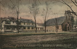 St. Johns Episcopal Church Parish House and Rectory Postcard