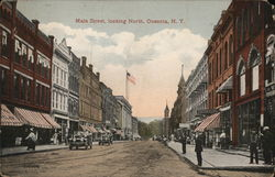 Main Street, Looking North Postcard