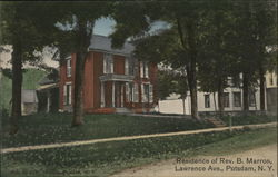 Residence of Rev. B. Marron, Lawrence Ave. Postcard