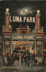 Entrance to Luna Park by Night