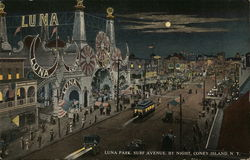 Luna Park, Surf Avenue by Night