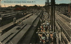 Merrymakers Arriving at Coney Island