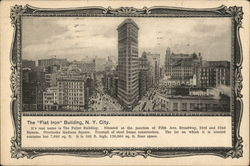 "The ""Flat Iron"" Building N.Y. City"