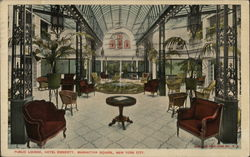 Public Lounge, Hotel Endicott, Manhattan Square, New York City