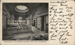 Banking Room of The National City Bank of New York