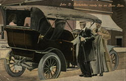 John D. Rockefeller Ready for an Auto Ride