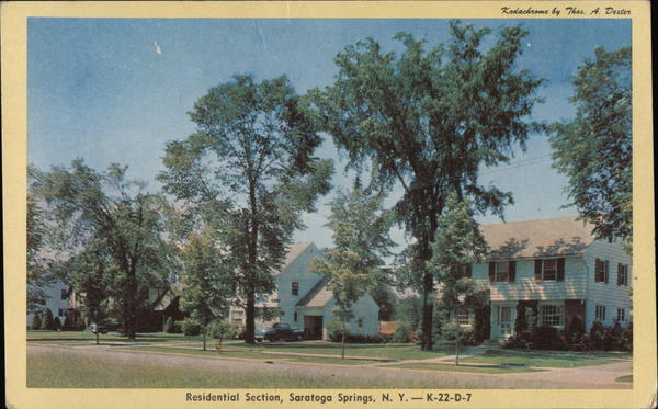 Residential Section Saratoga Springs New York