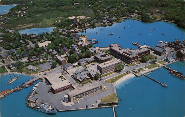 Aerial View of Woods Hole Falmouth Massachusetts