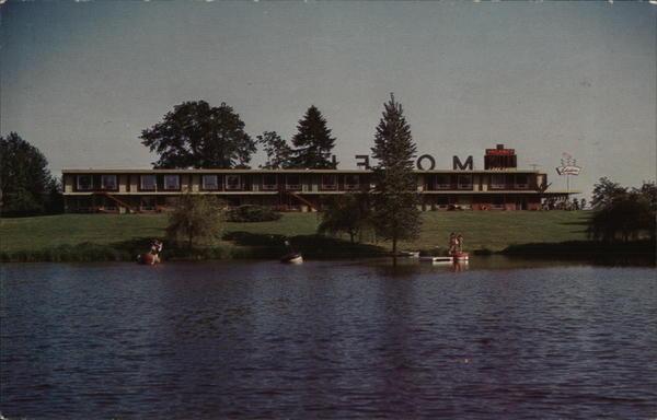 Juel 39 S Lake Shore Motel Centralia Wa Postcard