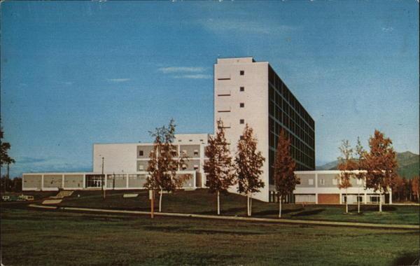 u s  air force hospital  elmendorf anchorage  ak postcard