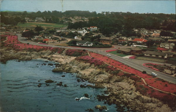 Aerial of Pacific Grove and its Famous Magic Carpet California