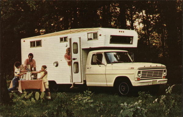 1967 F-350 Pickup With Camper Trailers, Campers & RVs
