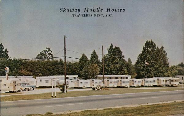 Skyway Mobile Homes Travelers Rest Sc Postcard