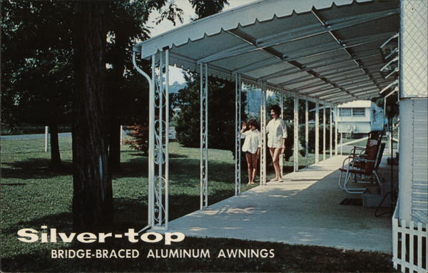 Silver-top Aluminum Awnings White Marsh, MD Postcard