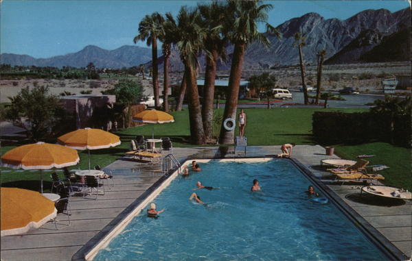 Swimming Pool, Blue Skies Trailer Village Palm Springs California