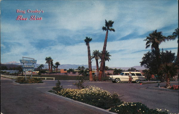Bing Crosby's Blue Skies Palm Springs California Trailers, Campers & RVs