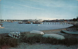 Yacht Basin, Ferry Boat at Pier, Vineyard Haven