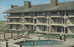 The Grey Gull - Apartment/Motel Postcard