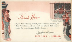 Merry Christmas From Boys Town Postcard