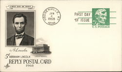 Five Cent Abraham Lincoln Reply Postal Card