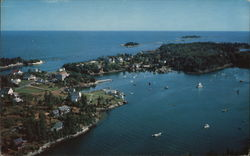 Airview of Christmas Cove Postcard
