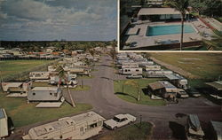 Highland Woods Travel Trailer Park Postcard