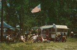 Camping at Jonathan Dickinson State Park Postcard