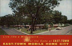 East-Town Mobile Home City Postcard