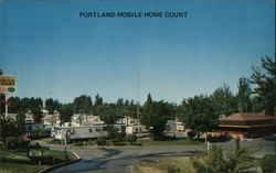 Portland Mobile Home Court Postcard