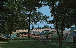 Campingd at Crooked Creek State Park Postcard