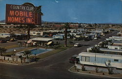 Country Club Mobile Homes Postcard