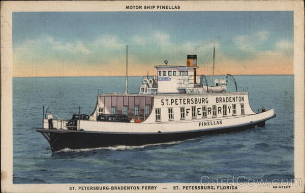 Motor Ship Pinellas, St. Petersburg-Bradenton Ferry Florida