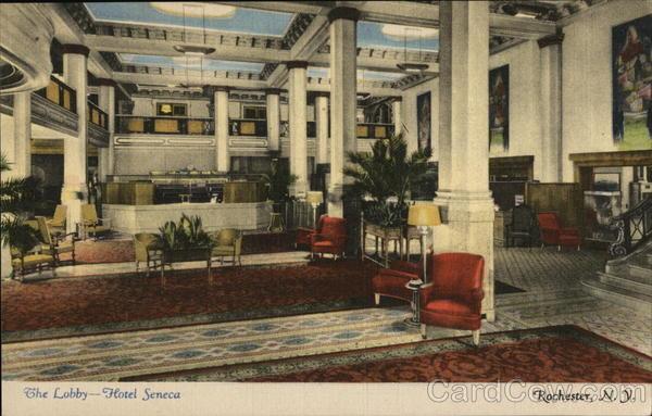 The Lobby - Hotel Seneca Rochester New York