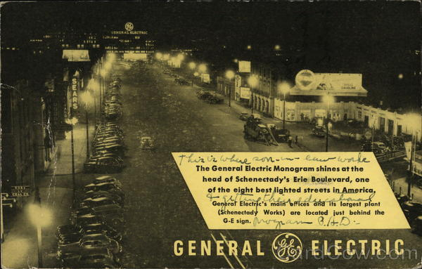 Lighting the Erie Boulevard Way, General Electric Schenectady New York