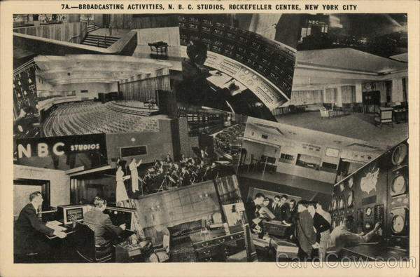 Broadcasting Activities, N.B.C. Studios, Rockefeller Centre New York